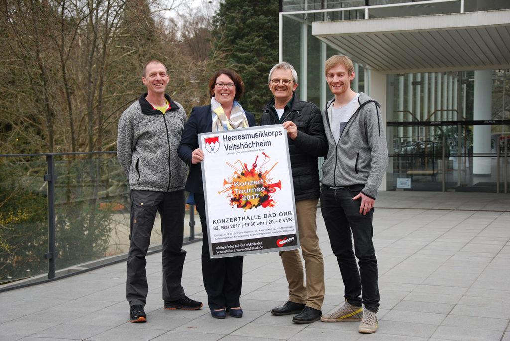 v.l.n.r. / Mathias Kleespies / Frau Susanne Simmler / Franzl Christ / Simon Lingenfelder
